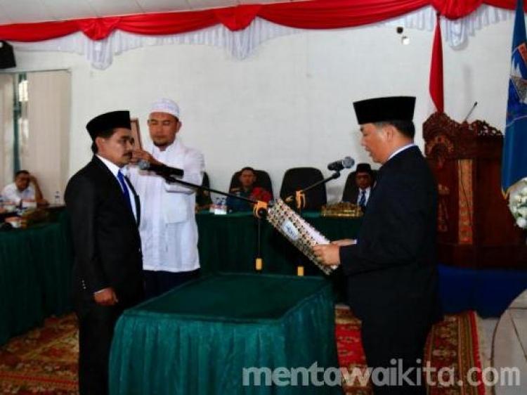 Damsuri Dilantik Jadi Anggota DPRD Mentawai Gantikan Rasyidin Syaiful
