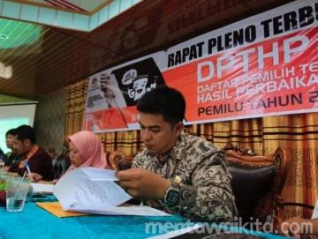 DPT Pemilu 2019 di Mentawai Bertambah 1055 Jiwa