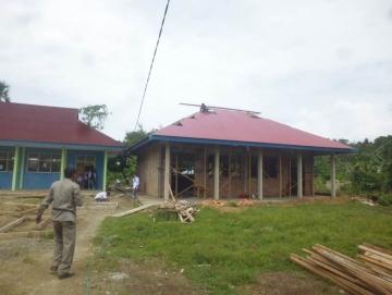 Pembangunan Ruang Pratikum SMKN 3 Mentawai Dikebut