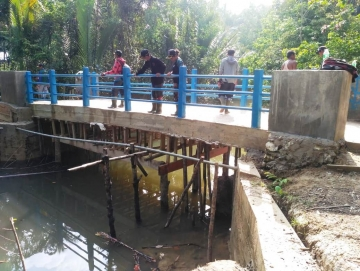 Bangunan Jembatan Tak Sesuai Rencana Pemdes Klarifikasi ke BPD