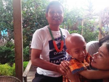 Wahyu Bocah Penderita Tumor Mata Asal Mentawai Meninggal Dunia
