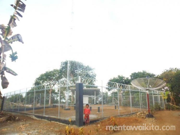Tower Telekomunikasi di Desa Matobe Menunggu Pemasangan V-Sat dan Antena
