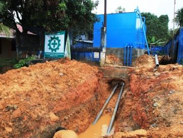 Atasi Krisis Air PDAM DPKP Mentawai Bangun Reservoir Kapasitas 100 Kubik