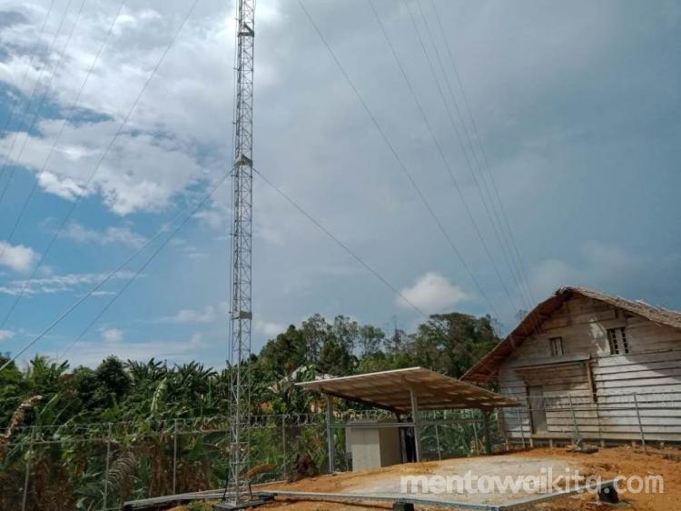 Tower Telekomunikasi Betumonga Menunggu Teknisi Pasang V-sat dan Antena