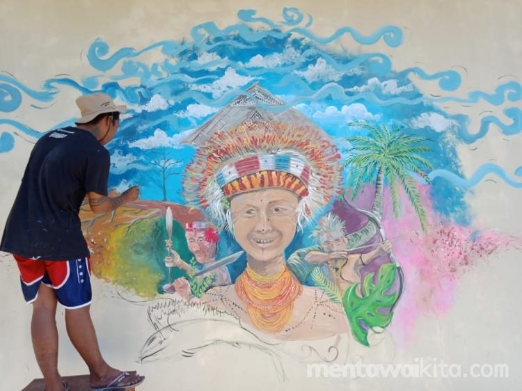 Mural Indah di Sekolah Pedalaman Siberut
