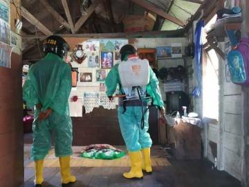 Pulang dari Dharmasraya Pasien Asal Saliguma Alami Sesak Nafas dan Demam Rumah Menginap Disemprot Disinfektan