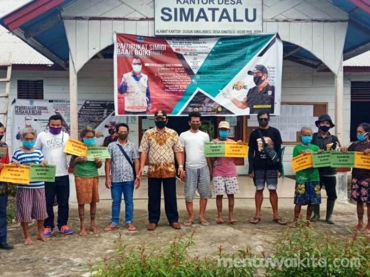 Pemerintah Desa Simatalu Salurkan BLT untuk 314 Warga Terdampak Covid19