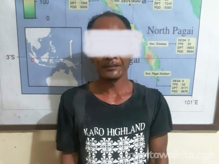 Polsek Sikakap Tangkap Seorang Pria yang Diduga Cabuli Remaja 16 Tahun