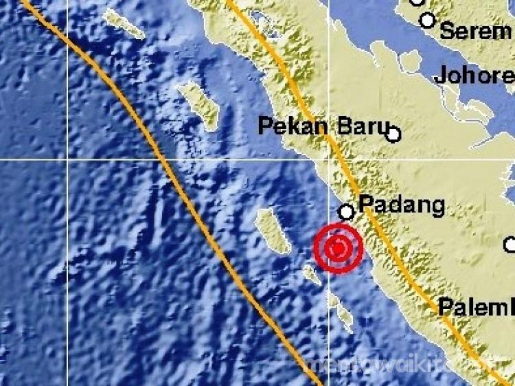 Pantai Barat Sumbar Diguncang Gempa Magnitude 51