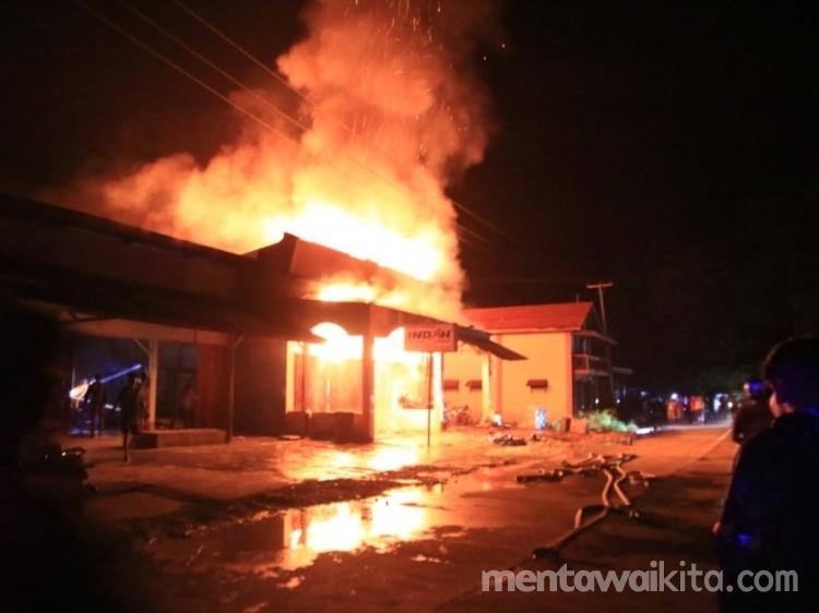 Satu Unit Ruko Terbakar di Tuapeijat