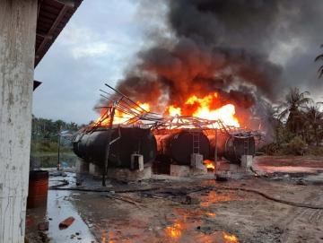 Ini Penyebab Kebakaran di SPBU Sikabaluan