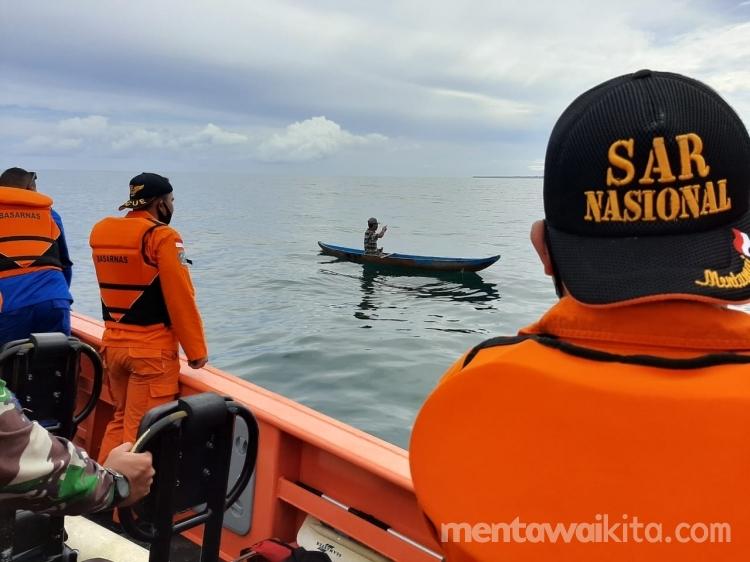 Nelayan Lobajau yang Hilang Kontak Ditemukan Selamat