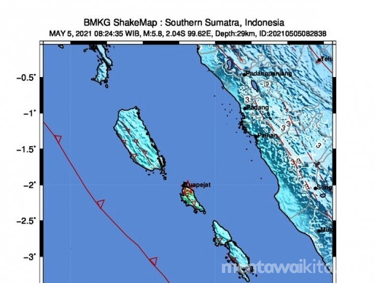 Gempa Kembali Guncang Mentawai Warga Tuapeijat dan Siberut Berhamburan Keluar Rumah