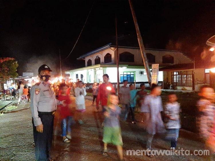 Masjid Al-Falah Sikabaluan Gelar Takbir Keliling