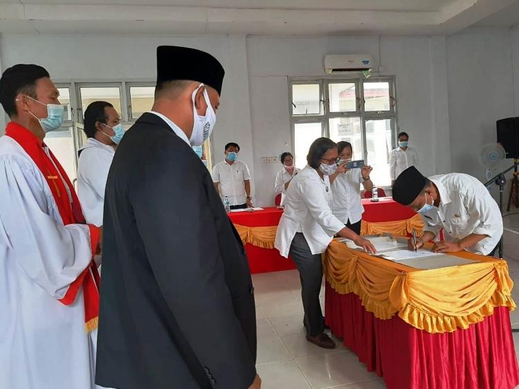 Dua Penjabat Kades di Siberut Utara Dilantik Jelang Pilkades