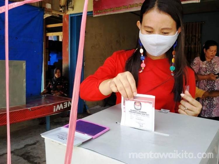 Pilkades Mentawai Pemilih Antusias Datangi TPS