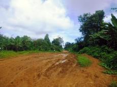 Jalan Sepanjang 300 Meter Menuju SMAN 1 Pagai Utara Berlumpur