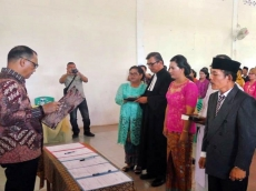 Bupati Mentawai Lantik Kepala dan Pengawas Sekolah Se-Pulau Pagai