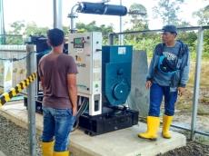Uji Coba Listrik Biomassa  Bambu di Mentawai Pakai Solar