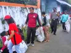Sambut Paskah Pemuda GKPM Gelar Aksi Bersih Sampah