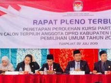 KPU Mentawai Tetapkan Kursi DPRD PDIP Memimpin