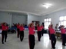 Lomba Senam Indonesia Bersatu Atribut Merah-Putih Hingga Parpol