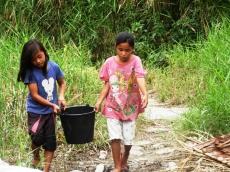 Kekeringan Warga Puro Siberut Selatan Kesulitan Air Bersih