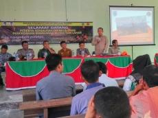 50 Aparatur Desa di PUS Ikuti Sosialisasi  BPBD Tentang Kebakaran Hutan