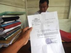 Polsek Muara Siberut Layangkan Surat Klarifikasi ke Pemdes Madobag Terkait Proyek jalan Mangorut-Rogdok
