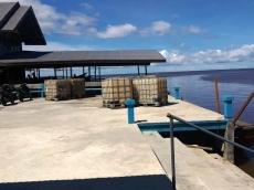 Dinas Perhubungan Mentawai Bangun Tambatan Perahu di Muara Siberut
