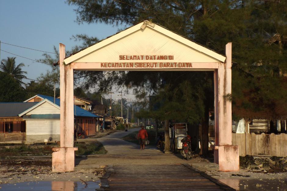 Dusun Peipei ibu kota Kecamatan Siberut Barat Daya
